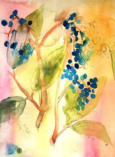 Botanical Abstract - 11x14 Watercolor Print #art #watercolor #nature