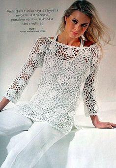Fabulous Crochet a Little Black Crochet Dress Ideas. Georgeous Crochet a Little Black Crochet Dress Ideas. Débardeurs Au Crochet, Moda Crochet, Pull Crochet, Crochet Tunic, Crochet Jacket, Crochet Woman, Irish Crochet, Crochet Crafts, Crochet Clothes