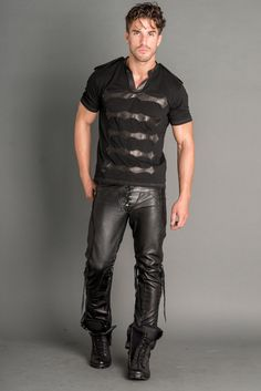 Logan Riese Leather T-Shirt