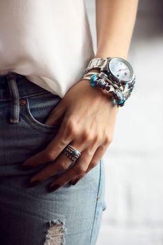 Pandora bracelets and Gap denim
