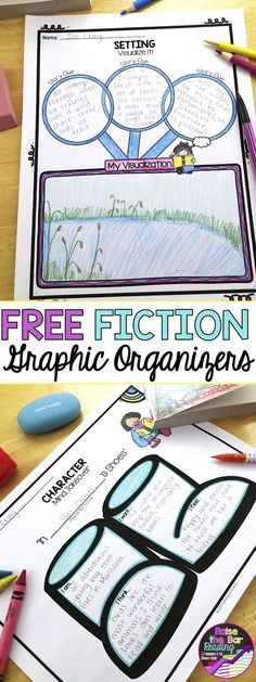 Perfect supports for reading fiction comprehension. Graphic organizers are must have teaching reading resources! These free graphic organizers include analyzing character, making character inferences based on dialogue, a Reading Resources, Reading Strategies, Reading Activities, Reading Skills, Teaching Reading, Free Reading, Guided Reading, Reading Projects, Teaching Art