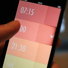 iPhone design by Rick on Scoutzie. Alarm Clock app for iOS. Currently in developme...