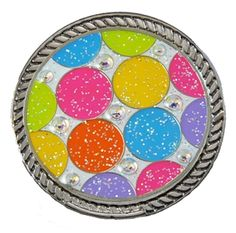 "Loudmouth Golf ""Disco Balls"" Ball Marker with Swarovski Crystals. Match your Loudmouth golf apparel with your accessories. Get golf groovy with this awesome print and mark your spot with style!"