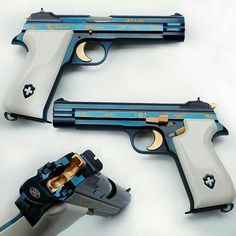 Sig Pistol - There' blue and then there' GOTD blue! Our featured Sig Weapons Guns, Guns And Ammo, 9mm Pistol, Revolvers, Custom Guns, Fire Powers, Sig Sauer, Cool Guns, Awesome Guns