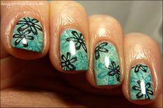 Sweet Sugar: Flowery Spring Manicure