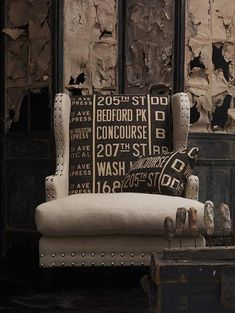 Wow! Upholstered  Pieces Using Andrew Martin's Concourse Fabric