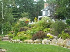 cotaage garden steep slope - Google Search