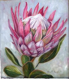 King Protea - oilpainting by R. Visage