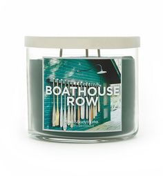 "Bath and Body Works candle in ""Boathouse Row"" scent... It smells soooooooo good!!"