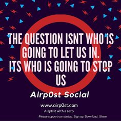Airpost who is going to stop us poster www.airp0st.com