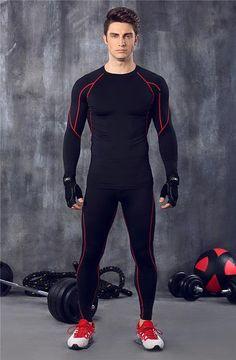 cc08d6f0155028 Yuna Men Fitness Clothing Set. Sports TrainingRunning SportsMen s ...
