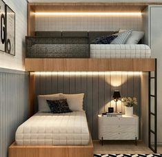 25 Best Ways to Update Your Master Bedroom – Home Design Small Room Design, Home Room Design, Kids Room Design, Bunk Bed Rooms, Bunk Beds Built In, Modern Bunk Beds, Bedrooms, Small Room Bedroom, Home Bedroom