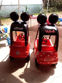 Mickey and Minnie Cozy Coupes