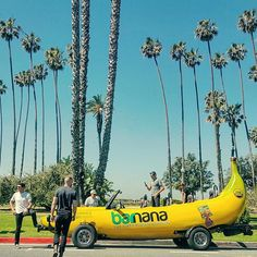 If you happen to see me ghost riding my #bananacar whip around #LA holler at me @eatbarnana ------------------------------- #losangeles #santamonica #california #banana #bananas #barnana #wholefoods #starbucks #entrepreneurship #wanderlust #carspotting #carsex #ghostrider #carsofinstagram