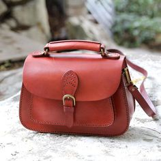 Handcrafted Leather Messenger Handbag Leather Shoulder Bag Small Satchel AK04