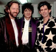 EC and Ron wood and Keith Richards Music Beats, Music Sing, Music Icon, Freddie Mercury, Eric Clapton Guitar, Dave Mason, John Mayall, Ron Woods, Ronnie Wood