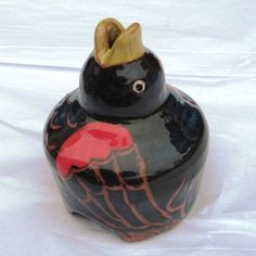 Collectable Red Wing Black Carved Pie Bird by piebirdqueen on Etsy, $55.00