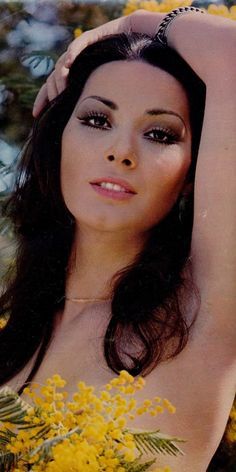 Large image of Edwige Fenech at uploaded by Classic Actresses, Beautiful Actresses, 70s Hair And Makeup, Barbara Carrera, Barbara Bach, Madeline Smith, Italian Actress, Old Movies, Timeless Beauty
