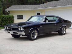 """1969 Chevrolet Chevelle S/S """"Frame-Off Restored"""" Flawless Black!"""