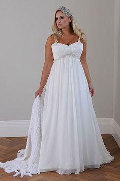 Vestidos para novias gorditas con corte imperio
