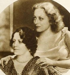 Joan Crawford and her mother