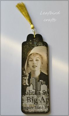 Wooden Bookmark Merilyn Monroe Bookmark NY by Leafbirdcrafts Book Marks, Handmade Wooden, Book Lovers, Decoupage, Crafty, Birthday, Gifts, Painting, Etsy