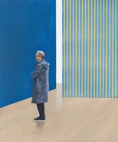 View Blue Walls (Stripes) by Tim Eitel at Galerie Eigen + Art in Berlin, Germany. Discover more artworks by Tim Eitel on Ocula now. Pop Art Illustration, People Illustration, Your Name Wallpaper, People Cutout, Painting People, Artist Gallery, Pictures To Paint, Figurative Art, Contemporary Artists