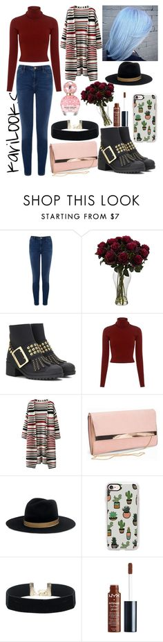 """""""Pink Daisy """" by karilooks ❤ liked on Polyvore featuring Warehouse, Burberry, A.L.C., New Look, Janessa Leone, Casetify, NYX and Marc Jacobs"""