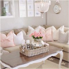 pink pillows with bows