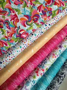 In the Bloom fabric bundle by Valorie Wells for Robert Kaufman and Fabric Shoppe, Fat Quarter bundle, 7 total