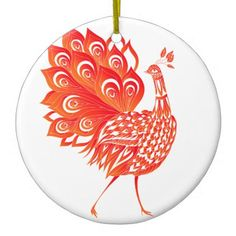 Peacock Ceramic Ornament - animal gift ideas animals and pets diy customize