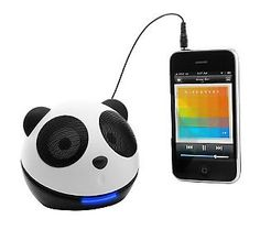 We have a panda speaker system too! Way too cute! #GiftIdeas