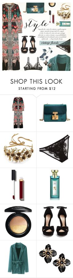 """Without You"" by lilith1521 ❤ liked on Polyvore featuring Temperley London, La Perla, Jennifer Behr, I.D. SARRIERI, Chanel, Bulgari, MAC Cosmetics, Alexander McQueen, vintage and Fall"