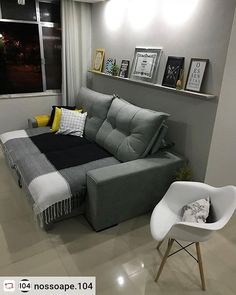 """Putting The """"Living"""" Into Your Living Room Furniture Small Apartment Interior, Small Apartment Living, Interior Design Living Room, Living Room Designs, Living Room Sofa, Living Room Decor, Bedroom Decor, Home Decor Furniture, Home Design"""