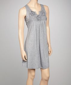 Take a look at this Gray Crocheted Silk-Blend Dress by Pretty Angel on #zulily today! $19.99