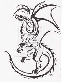 dragon tattoo drawings | Soaring Dragon tattoo by DawnLeopardess on deviantART