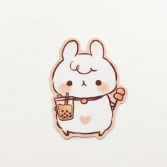 Your place to buy and sell all things handmade Kawaii Doodles, Cute Doodles, Kawaii Art, Cute Kawaii Animals, Cute Animal Drawings Kawaii, Stickers Kawaii, Cute Stickers, Dibujos Anime Chibi, Cute Food Drawings