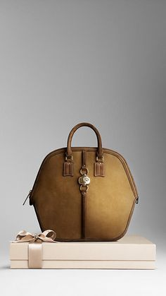 The Burberry Orchard Bag In Suede Nubuck Leather