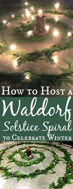 A Waldorf Solstice Spiral is a fun way to teach kids about the winter solstice.- A Waldorf Solstice Spiral is a fun way to teach kids about the winter solstice. Learn how to host your own solstice spiral in this tutorial. Winter Solstice Rituals, Winter Solstice Traditions, Solstice And Equinox, Winter Solstice 2018, What Is Winter Solstice, Winter Equinox, December Solstice, Pagan Christmas, Winter Christmas