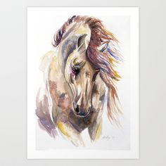 Colored Horse Art Print by Kelley Meredith Art - $22.88