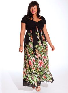 Christina Zwart Multi plussize#plus#size#fashion#maxi#zwart#avondkleding