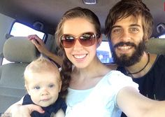 Perils: Jill Duggar and husband Derick Dillard - with son Israel here - spoke about the dangers they face doing missionary work in El Salvador in a preview of Tuesday's Counting On