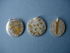 Moon pendants with Keum Boo detail