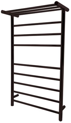 Eve 8-Bar Stainless Steel Wall Mounted Towel Warmer in Oil Rubbed Bronze - ANZII TW-AZ012ORB Envision wrapping yourself in a toasty, warm robe courtesy of our ANZZI Eve 8-Bar stainless steel wall mounted electric towel warmer rack in oil rubbed bronze. With an ingenious design in a 3-5 rail grouping and bonus top shelf, this towel warmer will safely, quickly and evenly warm large thick towels and bathrobes, as well as washcloths and hand towels. Stylishly crafted from RHINO ALLOY certified… Heated Towel Bar, Towel Heater, Towel Warmer Rack, Wall Bar, Steel Wall, Shower Doors, Oil Rubbed Bronze, Washing Clothes, Matte Black