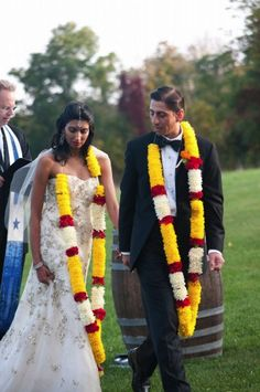 Christian and Hindu Combined Wedding | The Hindu tradition of taking the Seven Steps together around the ...
