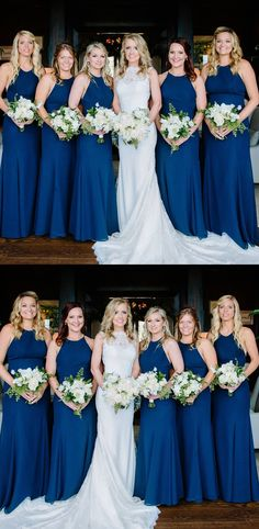 elegant long bridesmaid dresses, navy blue memraid bridesmaid dresses, cheap wedding party dresses for bridesmaids #dressywomen #bridesmaids #wedding #longdresses #oneday #weddingdress #bridesmaiddresses