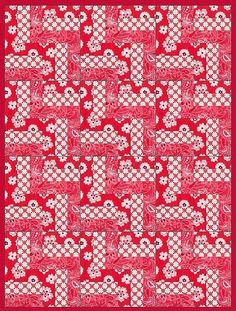Red Sampler Pre-Cut Quilt Kit Blocks