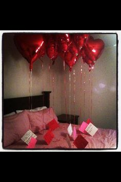 Put a memorable event at the end of each balloon. Great valentines day or anniversary gift idea!