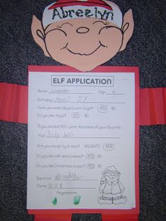 elf application: could make our own elves and change the application to include more writing