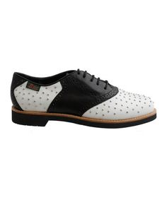 Take a look at this Black & White Benton Saddle Shoe by G.H. Bass & Co on #zulily today!